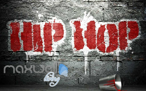 Image of 3D Graffiti Large Red Hiphop Street Art Wall Murals Wallpaper Decals Print Decor IDCWP-TY-000290