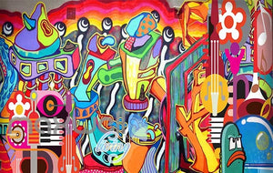 3D Graffiti Abstract Instruments Art Wall Murals Wallpaper Decals Prints Decor IDCWP-TY-000292