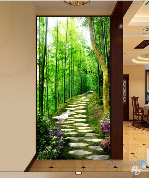 3d Bird Forest Lane Corridor Entrance Wall Mural Decals