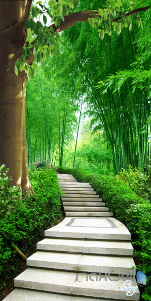 3D Forest Lane Tree Corridor Entrance Wall Mural Decals Art Print Wallpaper 040