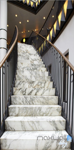 Image of 3D Modern Marble Stairs Corridor Entrance Wall Mural Decals Art Print Wallpaper 044
