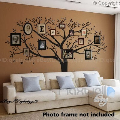 wall decal family art bedroom decor giant family tree wall stickers vinyl art home photo decals room decor mural anniversary wedding valentines