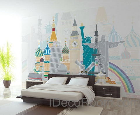 Image of Wolrd Famous Sign Wallpaper Wall Decals Wall Art Print Wall Mural Home DIY Decor Bussiness Deco Wall paper