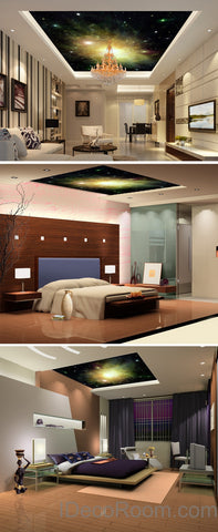 Image of 3D Star-1 Ceiling Wall Mural Wall paper Wall Decals Wall Art Print Deco Business Office wallpaper