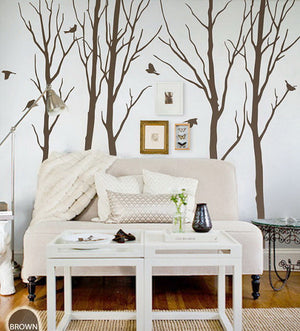 Winter Bird Tree Wall Decals Wall Art Nursery Decor
