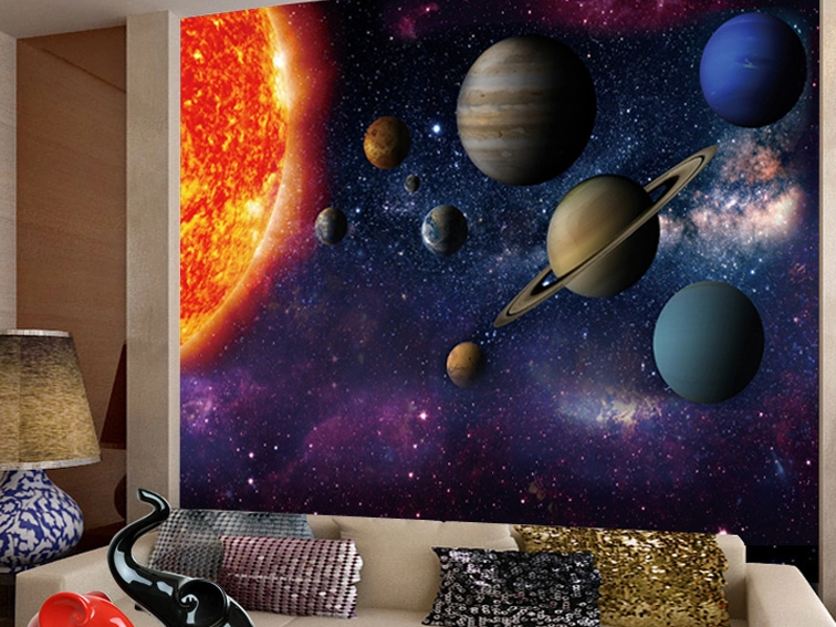 Solar Planet Galexy  Wallpaper Wall Decals Indoor wall Mural Arts