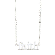 Load image into Gallery viewer, Faith Silver Necklace
