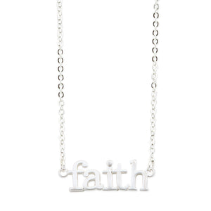 Faith Silver Necklace