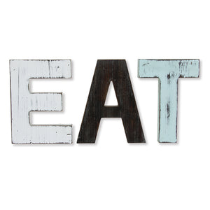 EAT Wood Block Letter Set