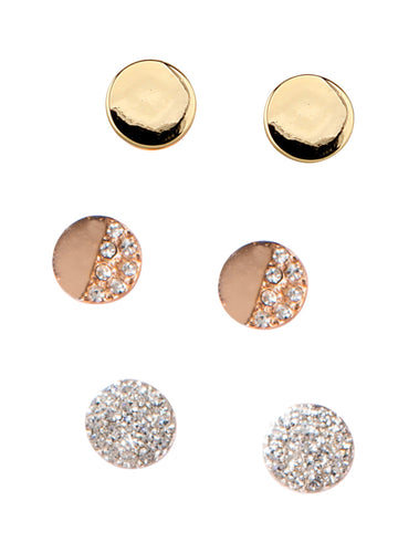 Assorted Set of 3 Stud Earrings