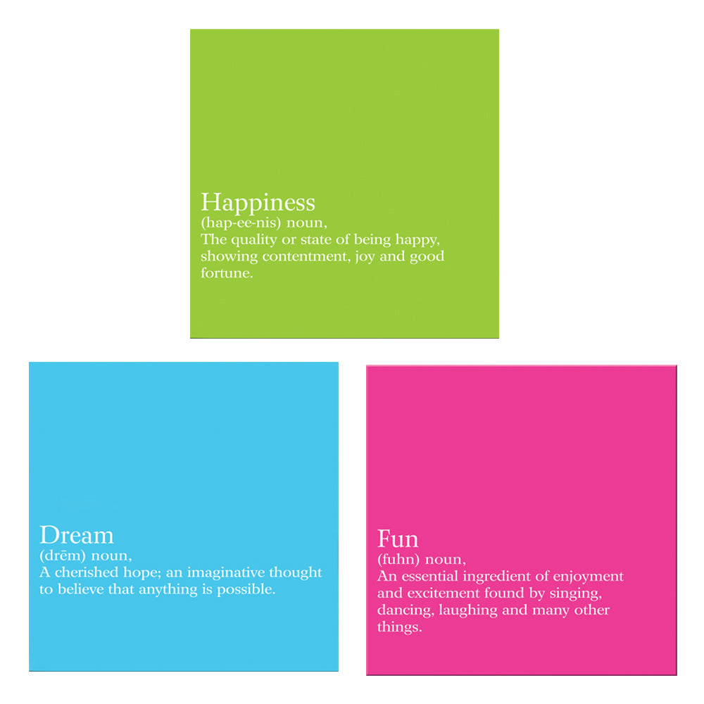Set of 3 - Inspirational Canvas Wall Decor