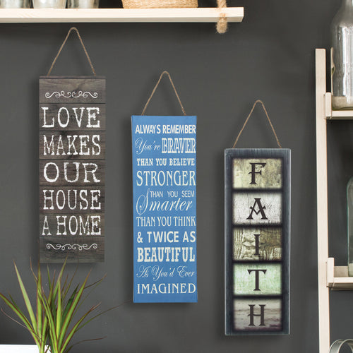 Canvas Inspirational Wall Decor. Set of 3