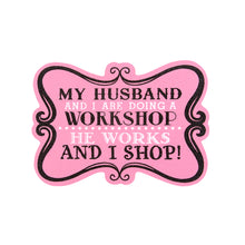 Load image into Gallery viewer, Funny Saying, Pink Glitter Wood Sign with easel back