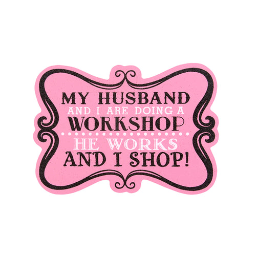 Funny Saying, Pink Glitter Wood Sign with easel back