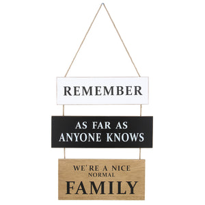 Funny Family Saying Wood Wall Decor