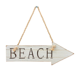Beach wooden arrow wall decor