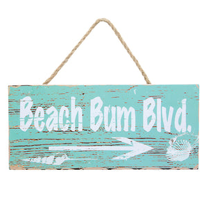 Beach Bum Blvd Wooden Wall Decor