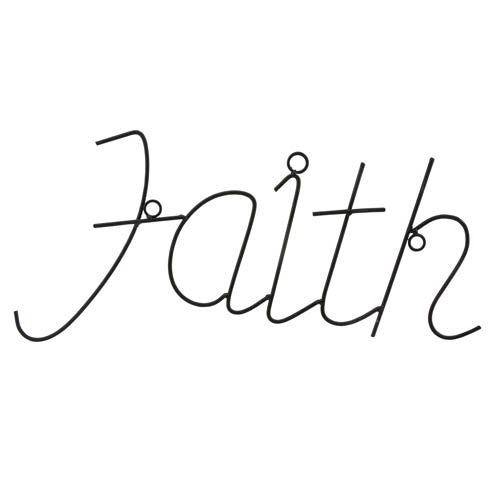 SS FAITH DECORATIVE WALL DECOR