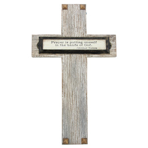 Prayer Wood Cross