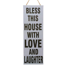 Load image into Gallery viewer, Bless this house with love and laughter wall decor