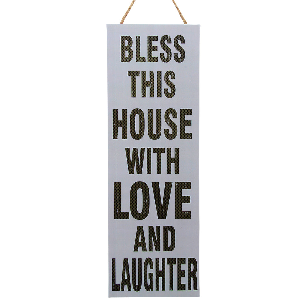 Bless this house with love and laughter wall decor
