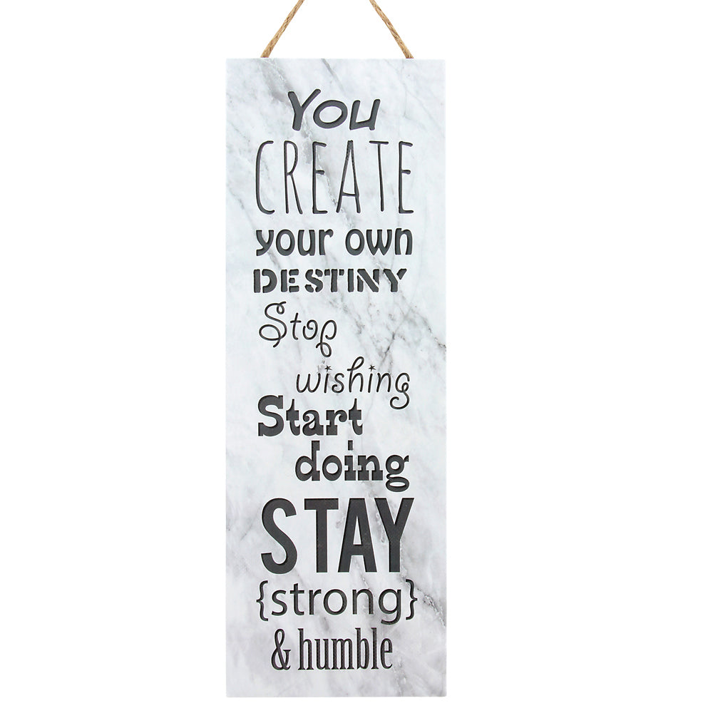 SS CREATE YOUR DESTINY WALL HANGING