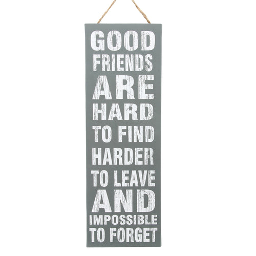 'Good Friends are Hard to Find' Canvas Wall Decor