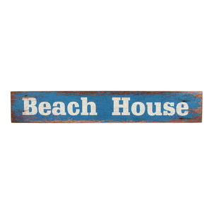 Beach House Wooden Block
