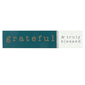 'Grateful' Wood Wall Decor
