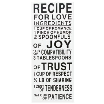 Recipe for Love Wall Décor