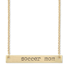 Load image into Gallery viewer, Soccer Mom Bar Necklace