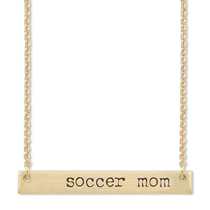 Soccer Mom Bar Necklace