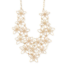 Load image into Gallery viewer, Gold Flower Link Necklace
