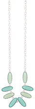 Load image into Gallery viewer, Silver Chain Multi Colored Green Beaded Necklace