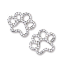 Load image into Gallery viewer, Crystal Paw Earrings