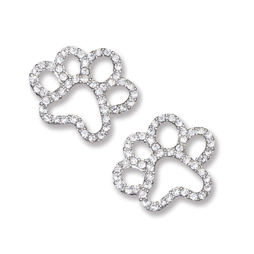 Crystal Paw Earrings