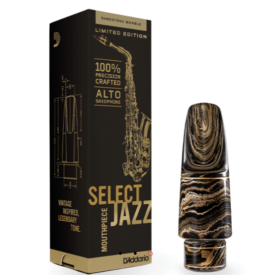 Select Jazz Alto Saxophone Mouthpiece Marble Medium Chamber 大理石紋中音薩克斯風吹嘴 - 中號腔室
