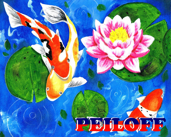 Lotus and Koi