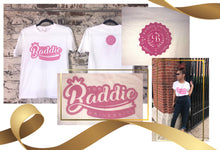 Load image into Gallery viewer, Baddie Logo Tee (White)
