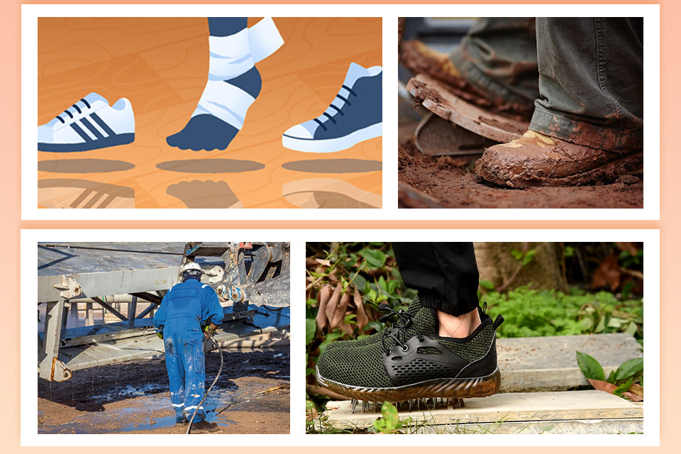 foot safety, safety shoes
