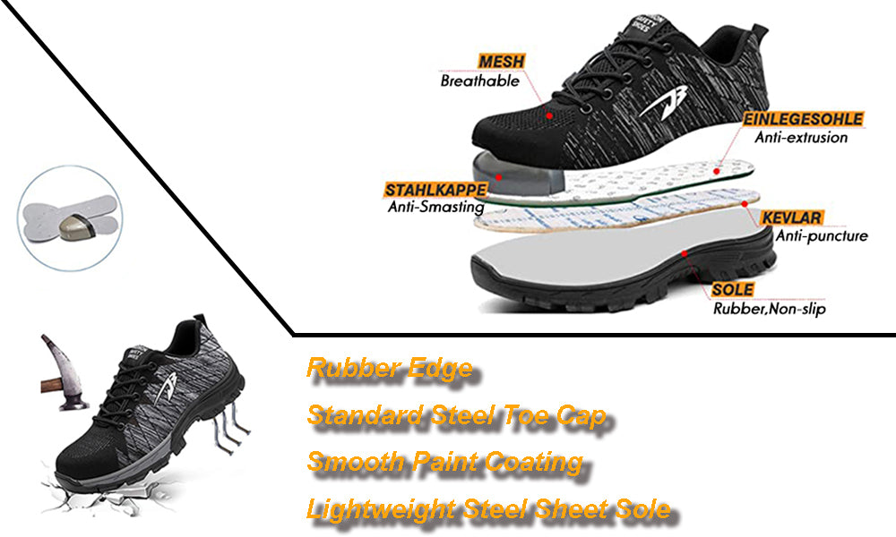 3.Suadex Outdoor Casual Shoes Athletic Work Shoes Description