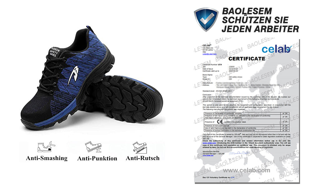 2.Suadex Outdoor Casual Shoes Athletic Work Shoes Description certificate