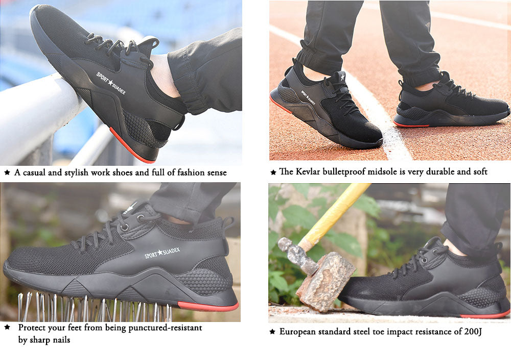 Fashion Steel Toe Sneakers Safety Shoes