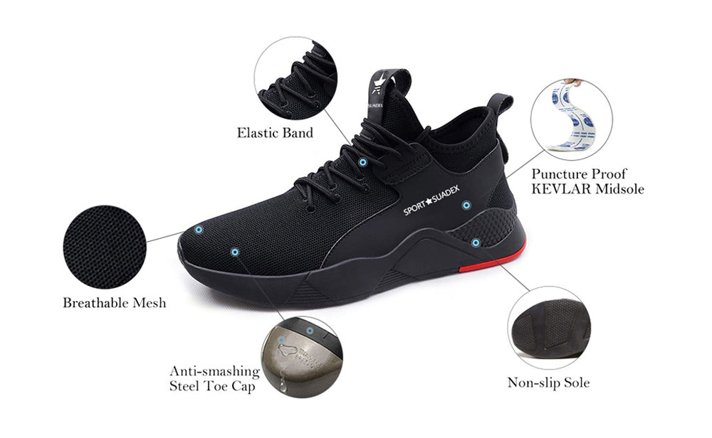 Fashion Steel Toe Sneakers Safety Shoes 677 description