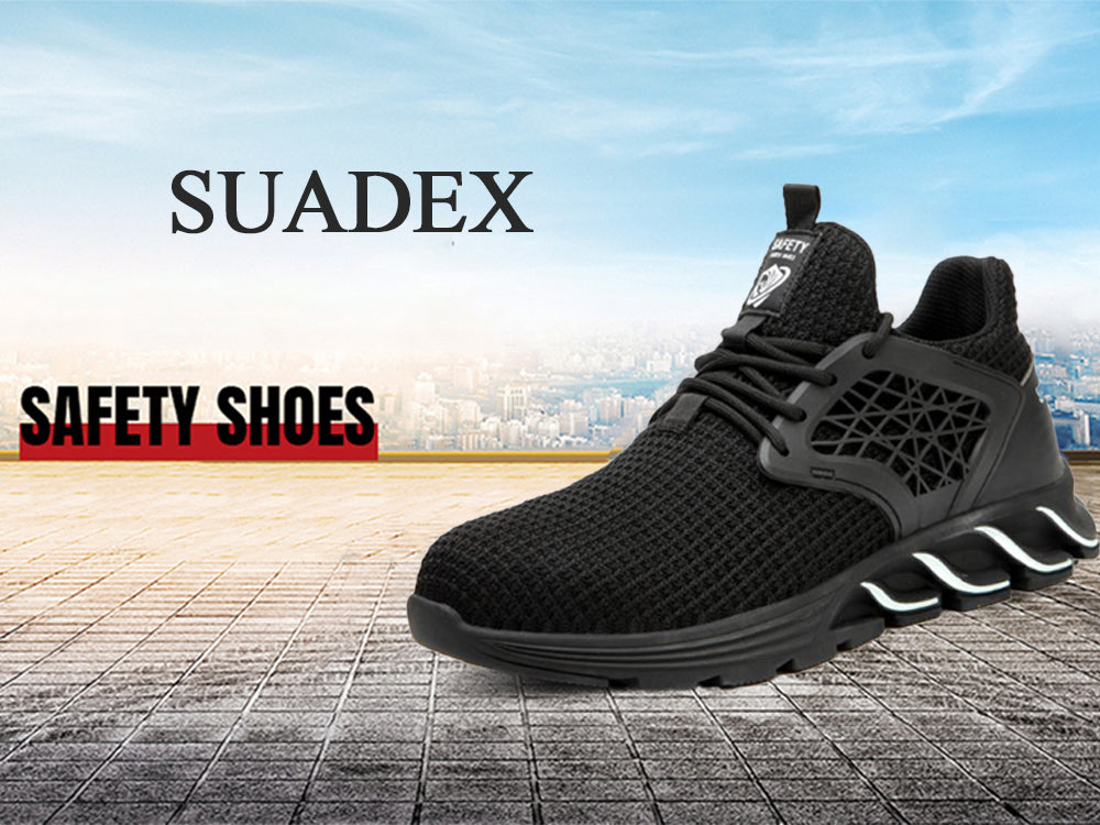 Stylish Lightweight Steel Toe Safety Shoes details Suadex shoes
