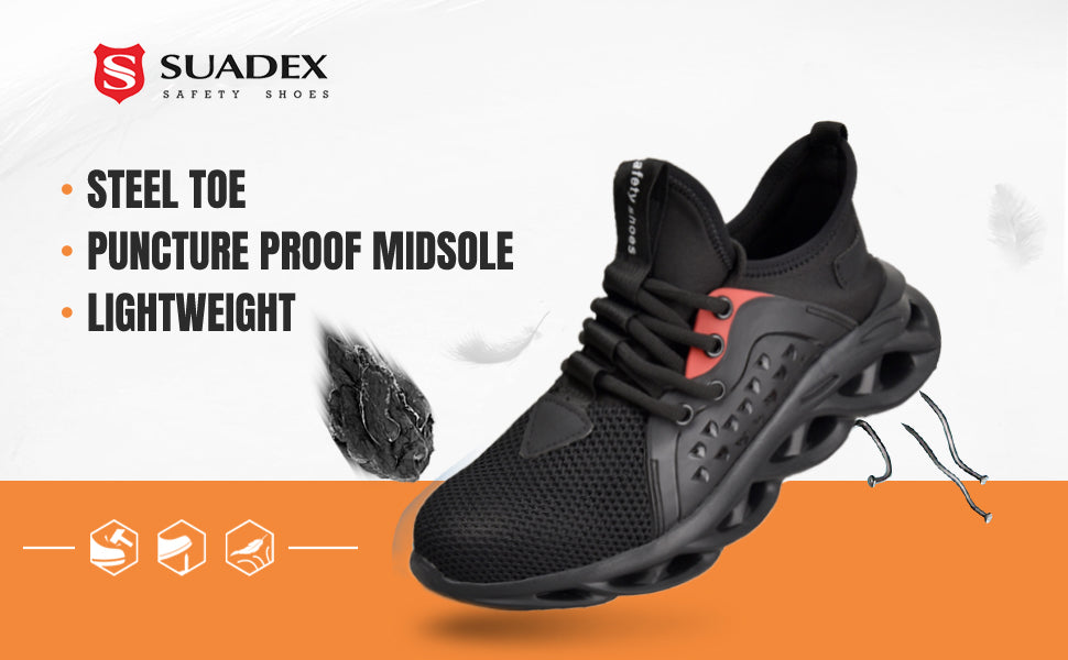 Suadex Show-off Cool Safety Shoes Work Shoes|Hollowed-out