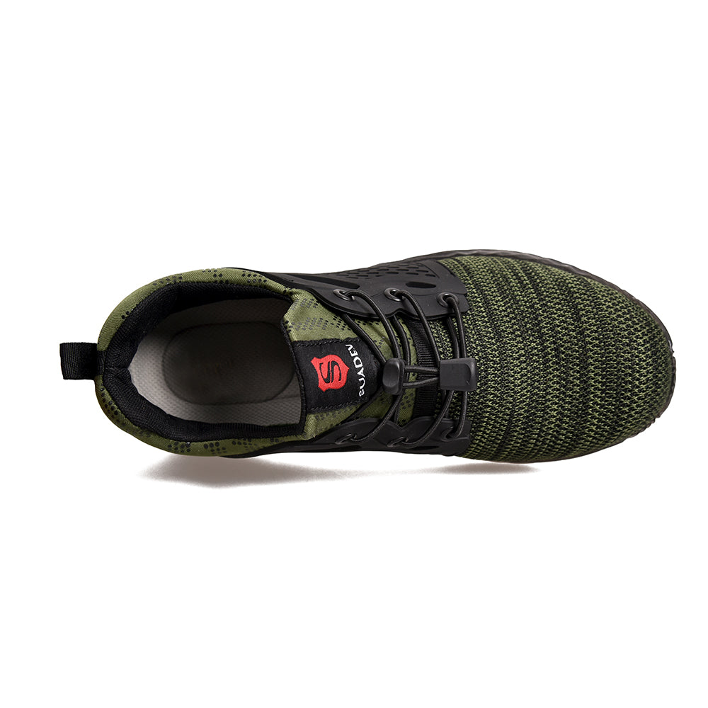 Stylish Steel Toe Shoes Work Shoes 830green