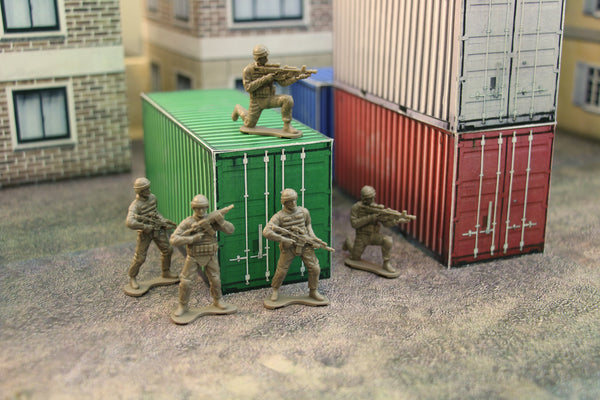Combat Storm Shipping Container Papercraft