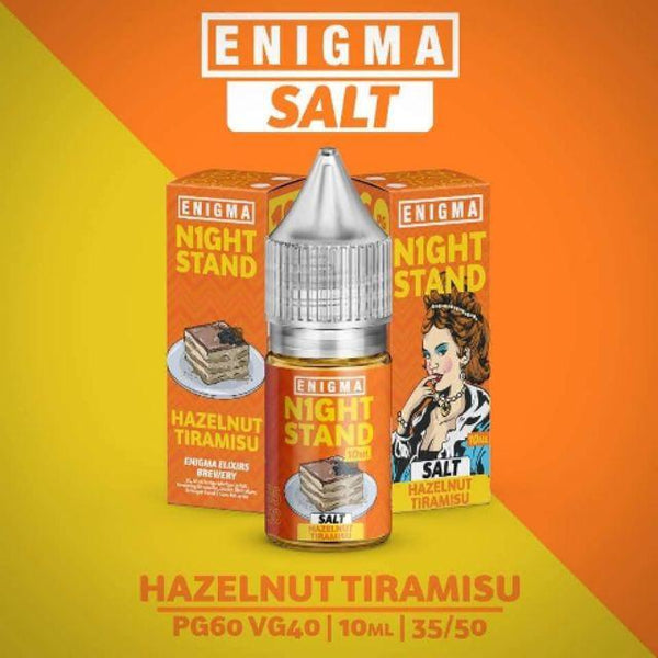 Enigma - Hazelnut Tiramisu (NIGHTSTAND) (SALT) 10mL - Finest Ounce Vape Store