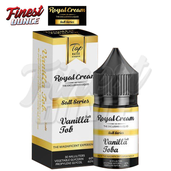 Royal Cream Salt - Vanilla Tobacco 30mL - Finest Ounce Vape Store